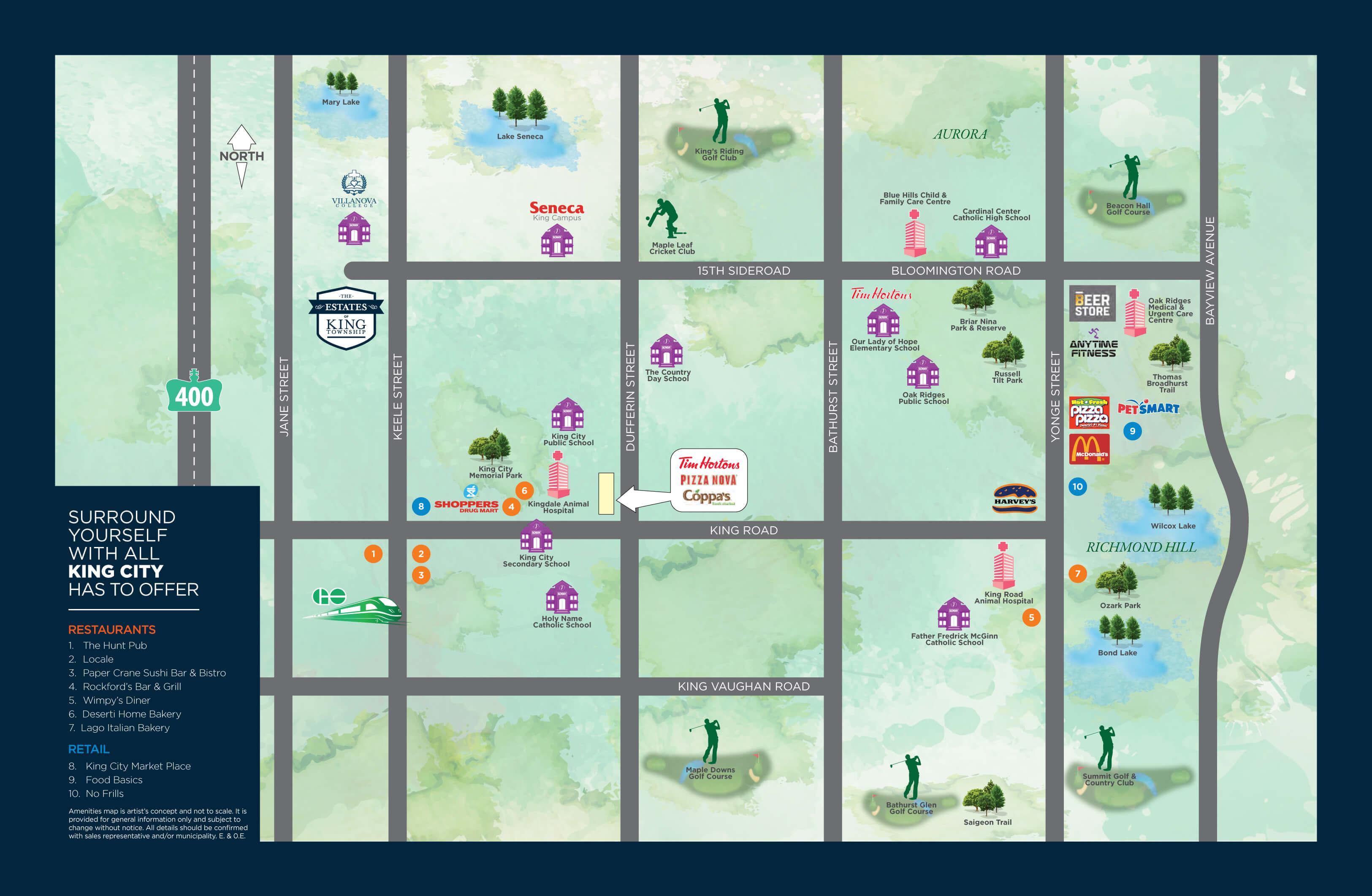 Estates-of-King-Township-Amenities-Map